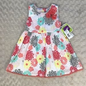 Babies R Us Floral Dress Size 2T White Yellow Gray
